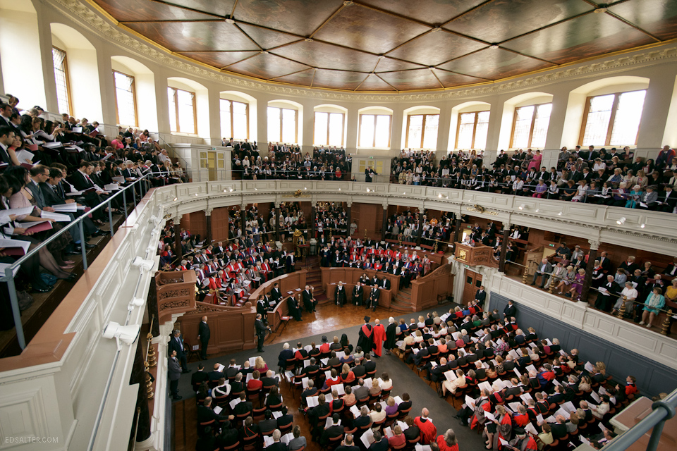 Oxford Sheldonian Theatre during Encaenia ceremony
