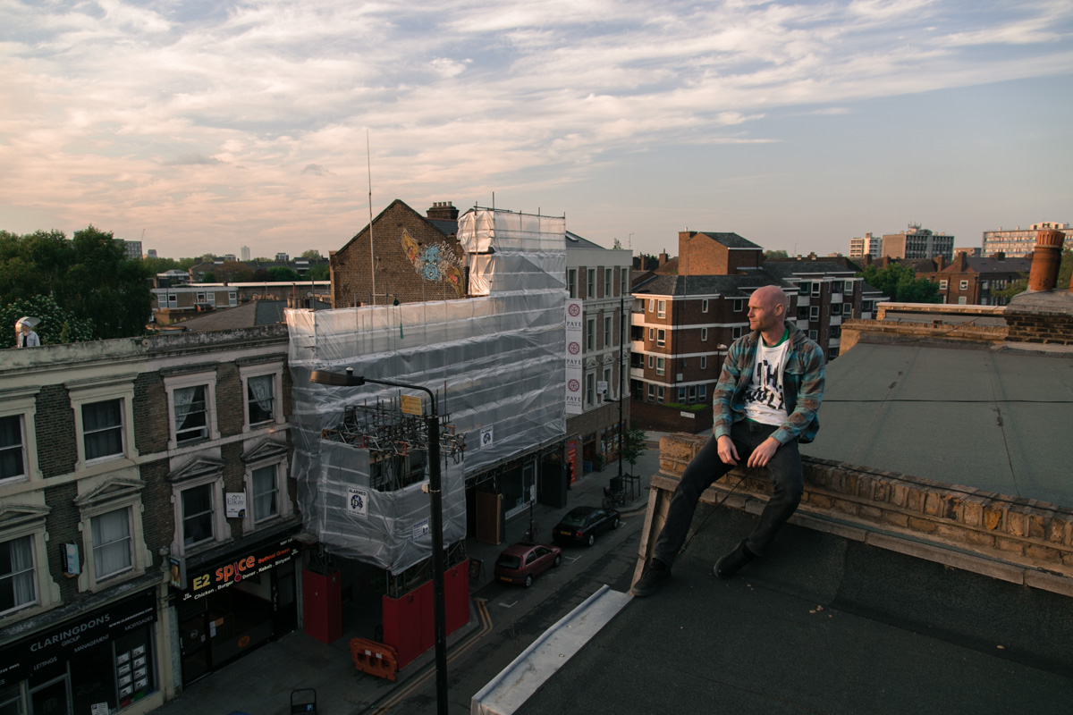 Portrait of Steve on an East London roof-top