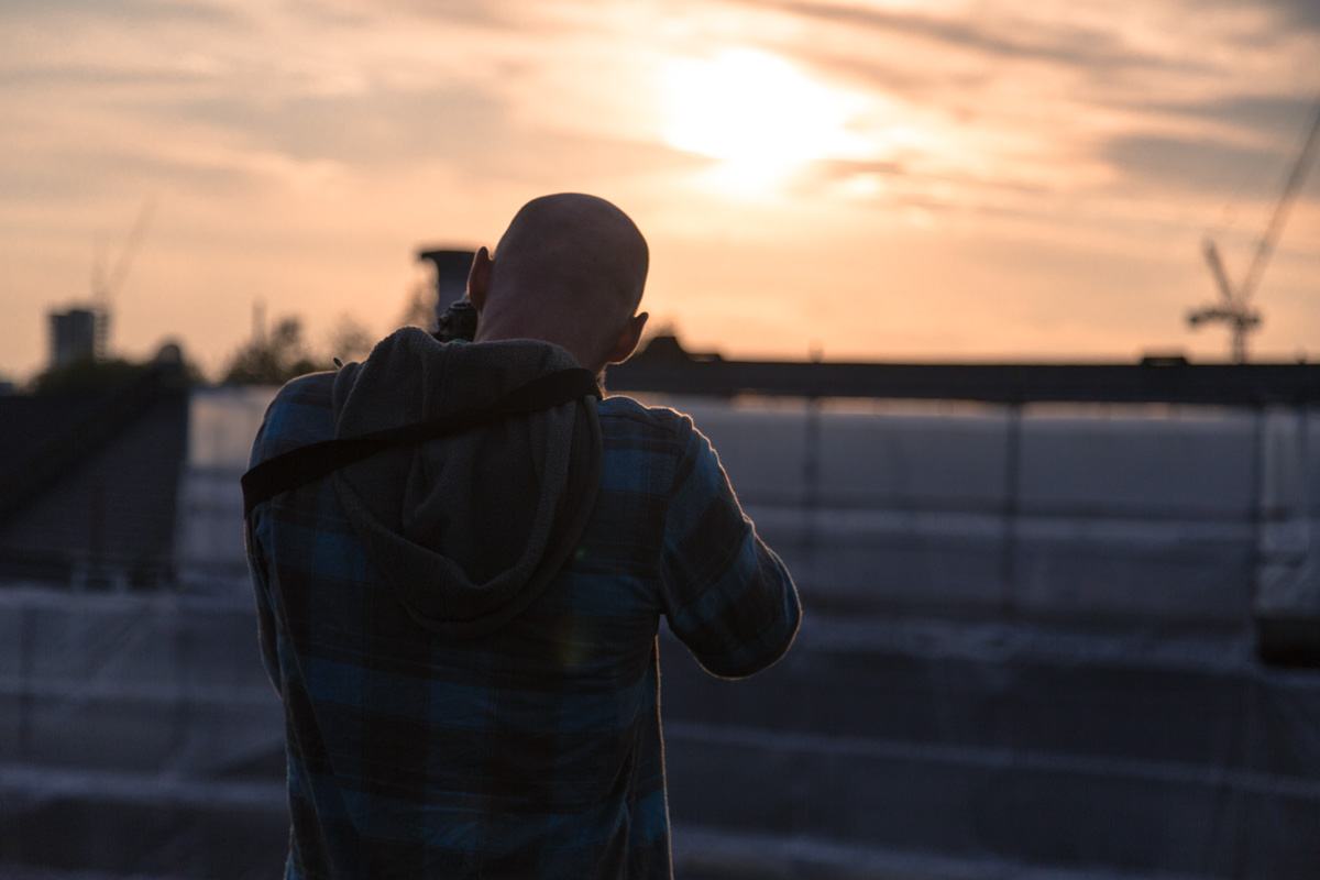 Steve photographing the sunset