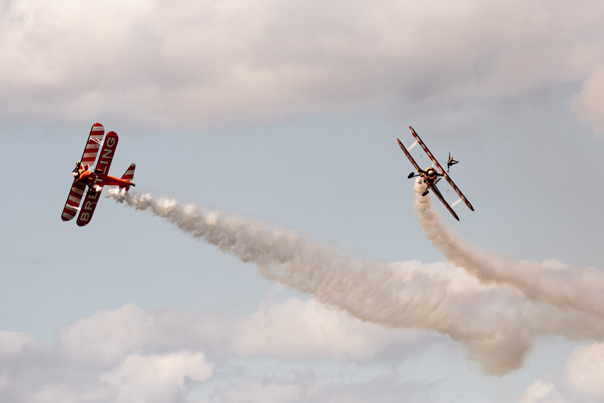 Breitling Wingwalkers at Red Bull Air Race 2014 at The Royal Ascot Race Course