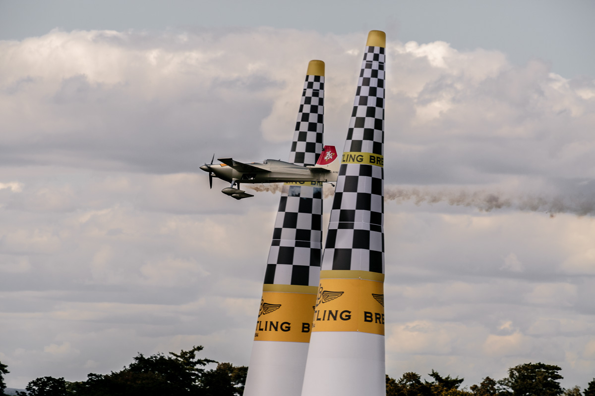 Race finish Red Bull Air Race 2014 at The Royal Ascot Race Course