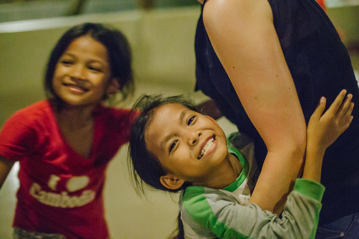 Happy Cambodian child