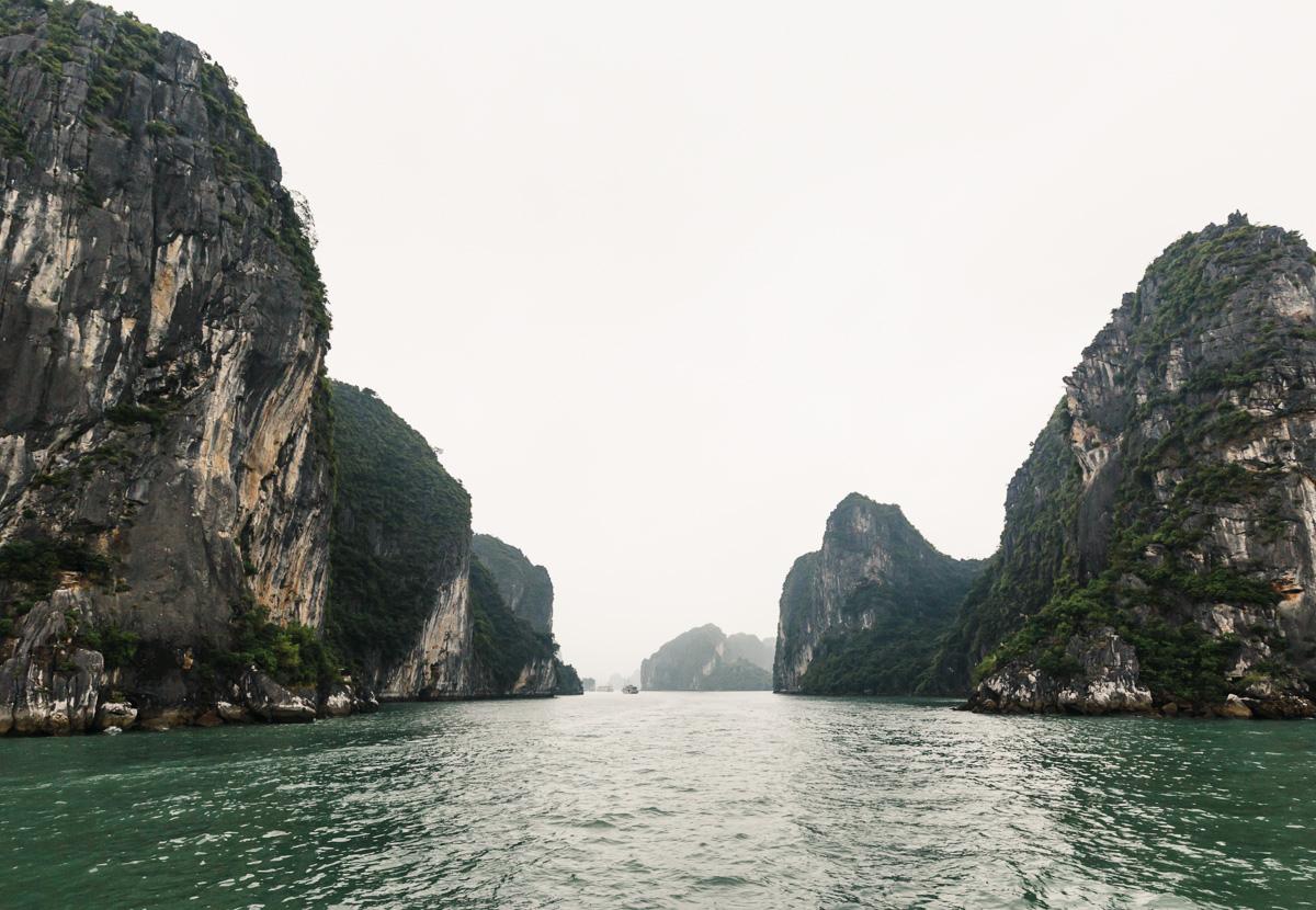 First view of Harlong Bay rocks up close