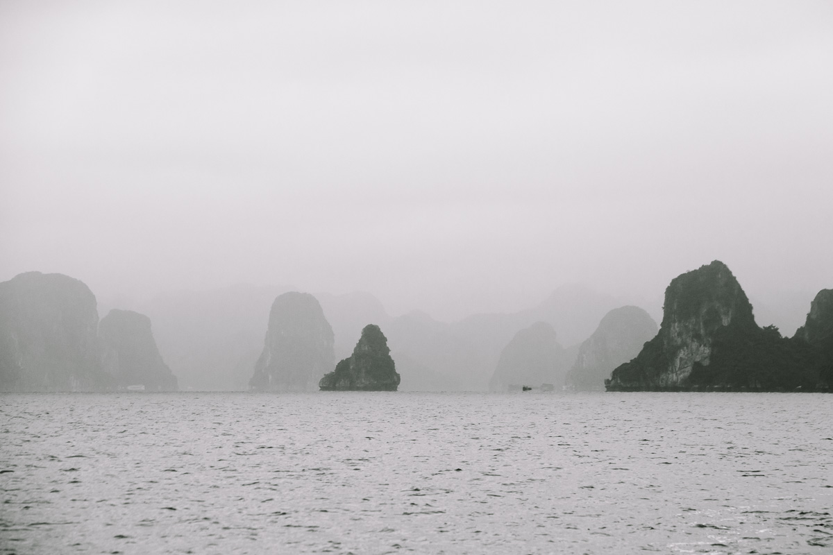 View out towards Halong Bay