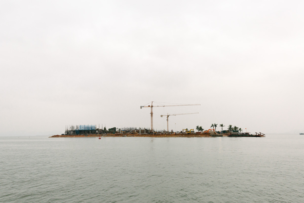The construction of the new sea port and ferry terminal