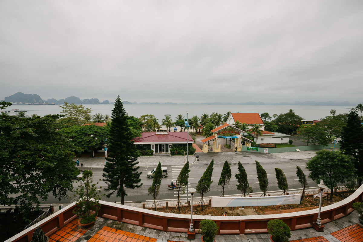 View from my hotel out towards Halong Bay
