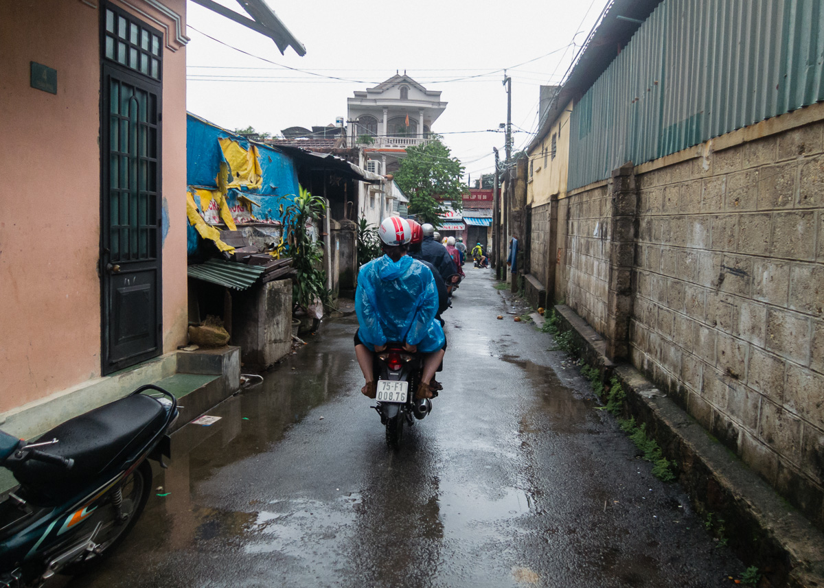 Motor bike tour through backstreets of Hue