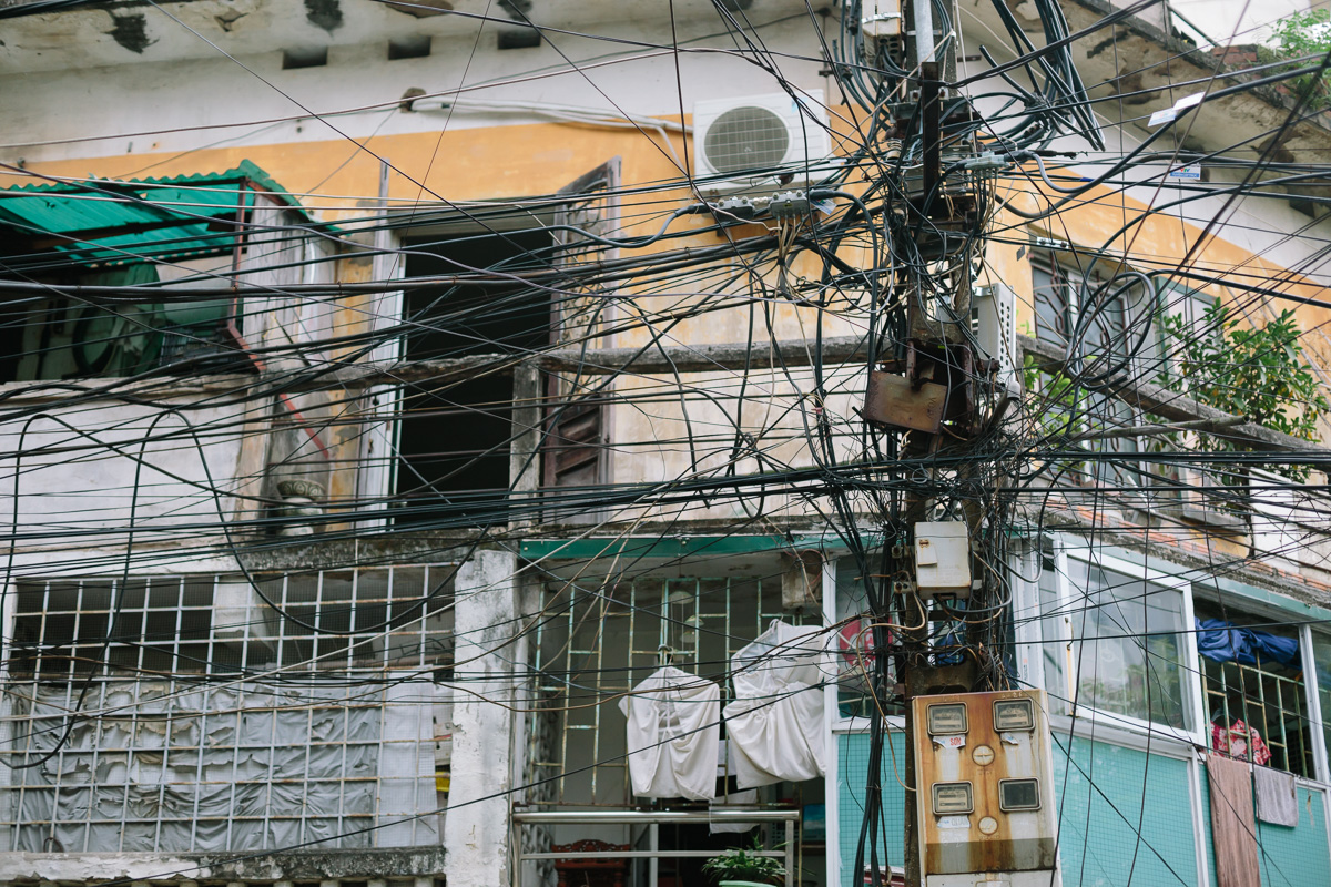 The insanely complex and twisted lines sum up Hanoi pretty well for me