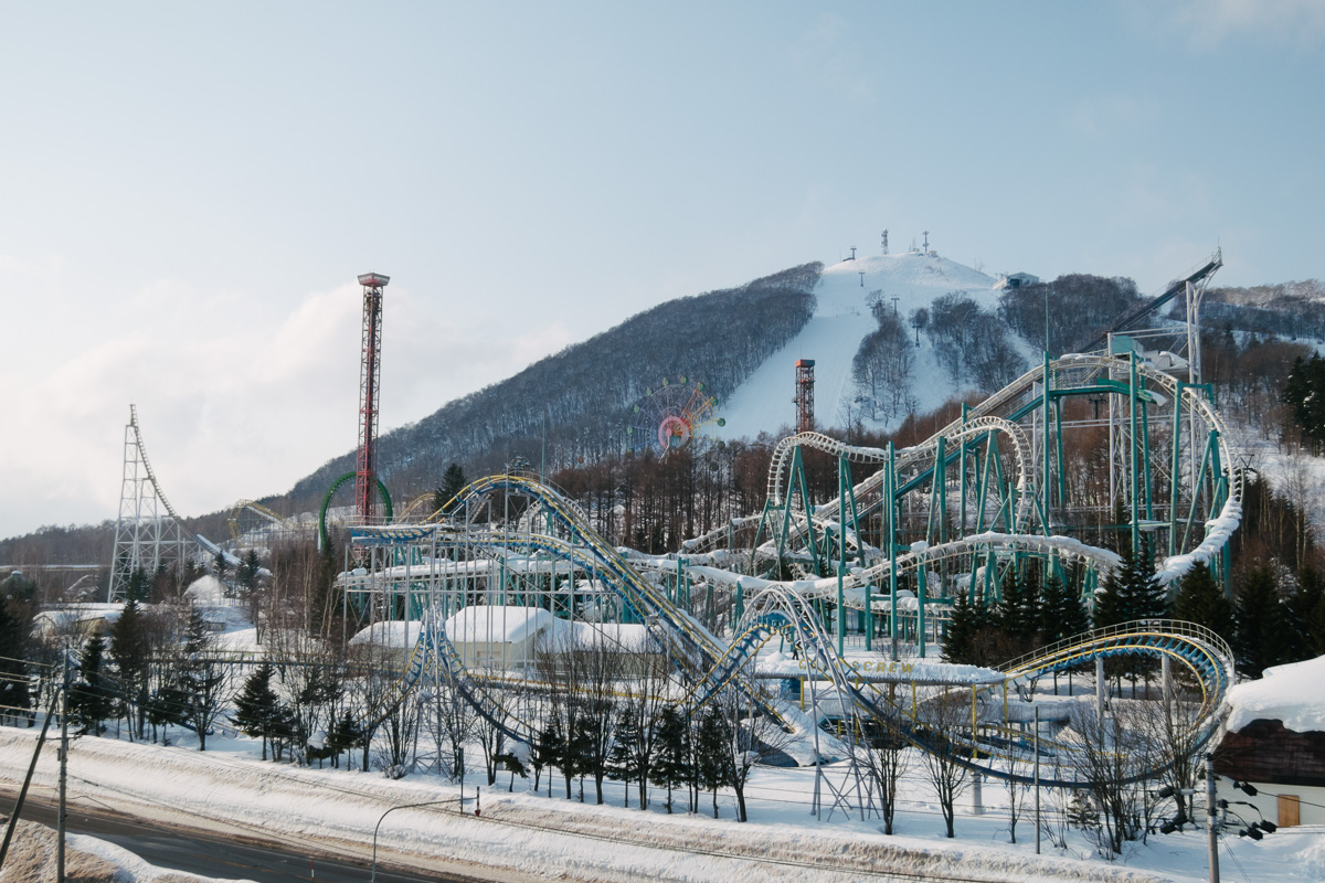 Rusutsu Resort roller coasters in the snow