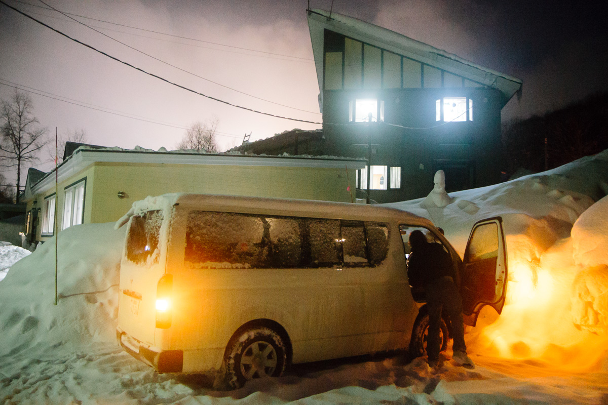 The van that took us around Hokkaido in Northern Japan