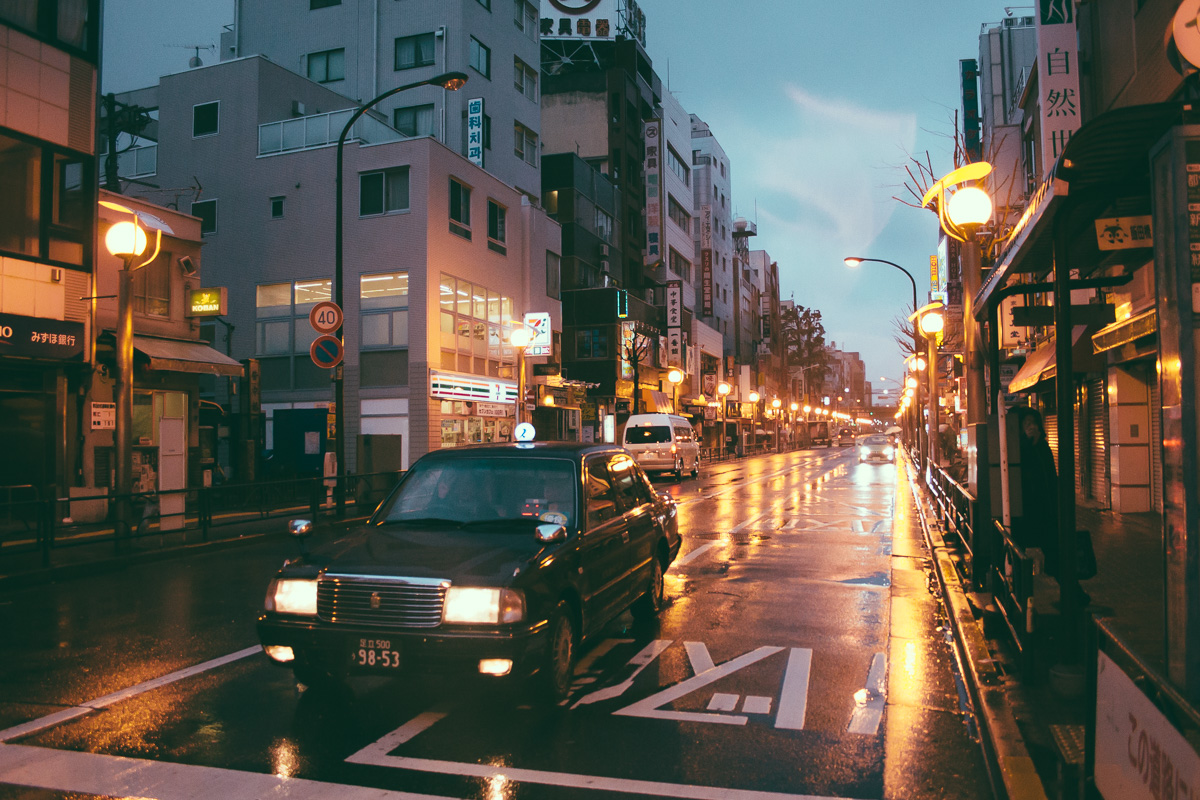 Taxi at Shin Okubo