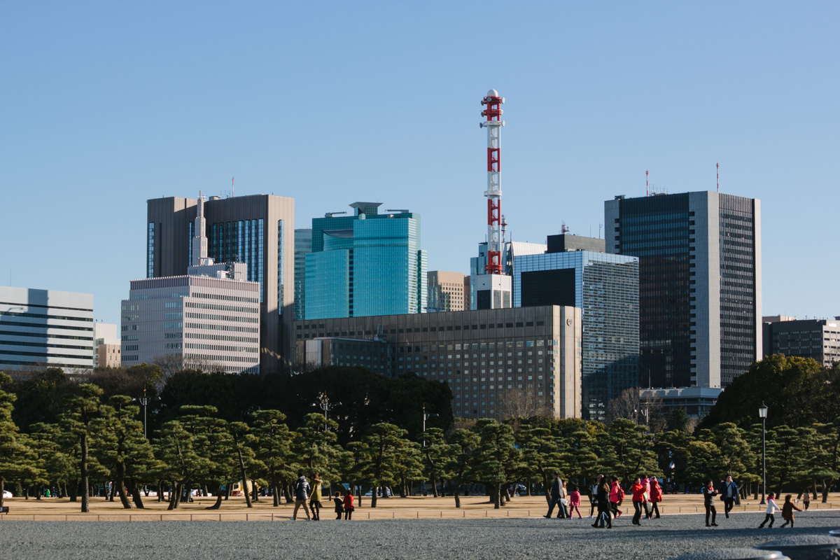 Cityscape from the Imprtial Palace gardens - Tokyo