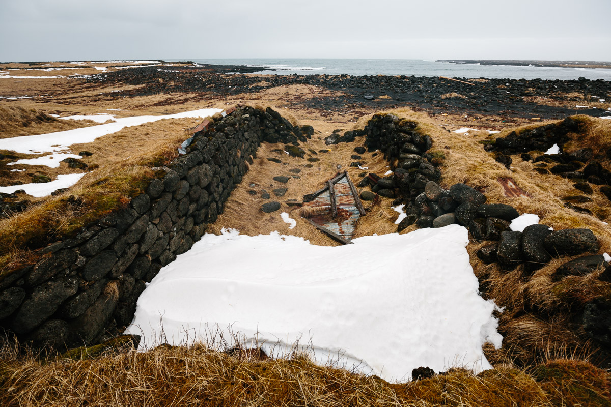 Remains of traditional Icelandic houses