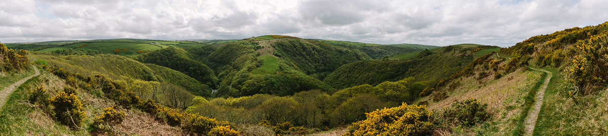 A view of the valley above the River Warner