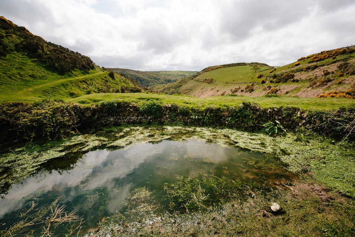 A water storage pond
