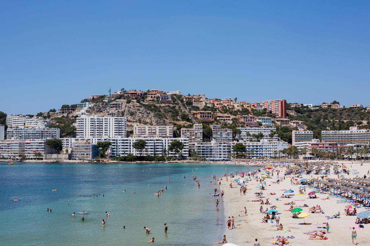 Beach at Santa Del Ponsa, Majorca