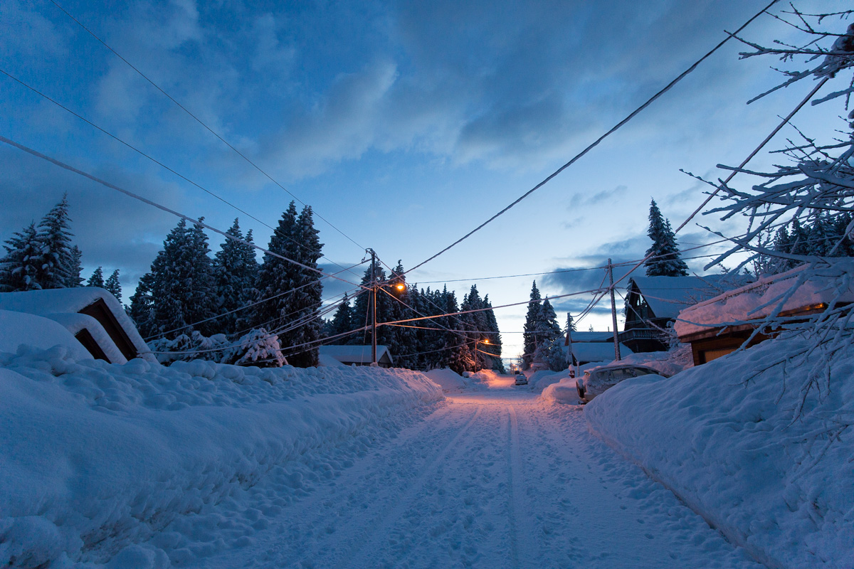 Snow streets of Rossland